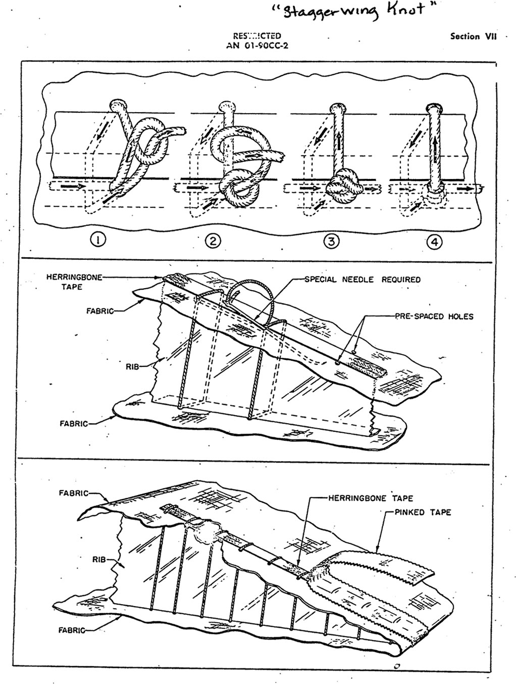 Rib Lacing With Beech Staggerwing Knot - Technical Tasks