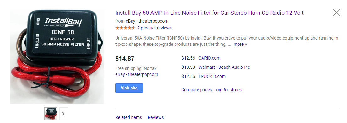 Install Bay IBNF50 Noise Filter 50 AMP Each